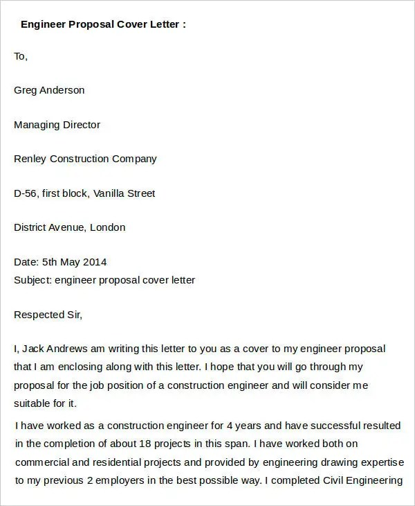 project proposal cover letters - Minimfagency