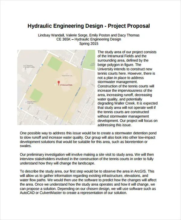 10+ Engineering Project Proposal Templates - Word, PDF Free