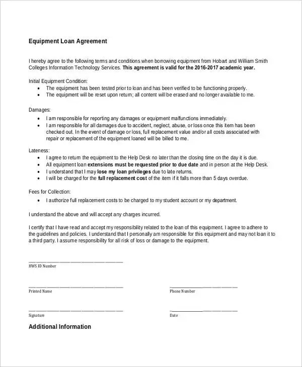 9+ Loan Contract Templates - Free Sample, Example Format Download - person to person loan contract