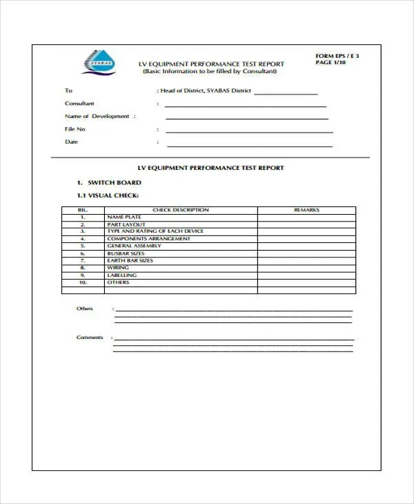 10+ Test Report Templates - Free Word, PDF Format Download Free