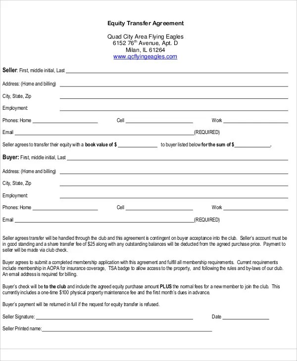 Transfer Agreement Template - 14+ Free Word, PDF Format Download