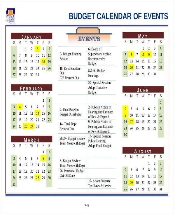Sample Budget Calendar Sample Printable Weekly Budget Calendar Free - sample budget calendar