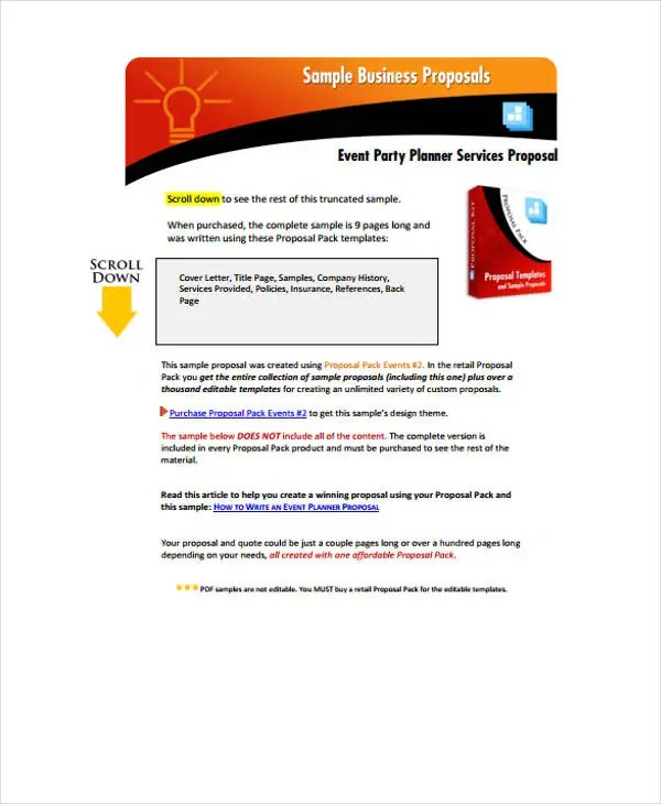 Corporate Event Proposal Templates - 7 Free Word, PDF Format - How To Write An Event Proposal
