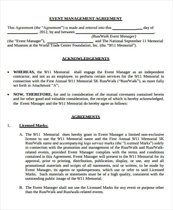 9+ Management Agreement Templates - Free Sample, Example Format - management agreements