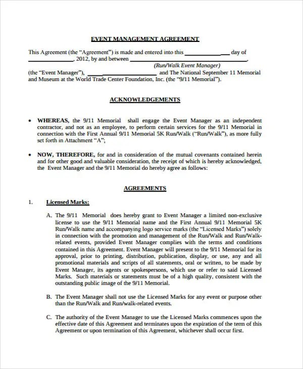 15+ Management Agreement Templates - Word, PDF Free  Premium