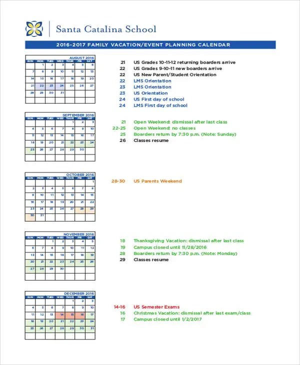 Event Calendar Templates - 9+ Free Word, PDF Format Download Free