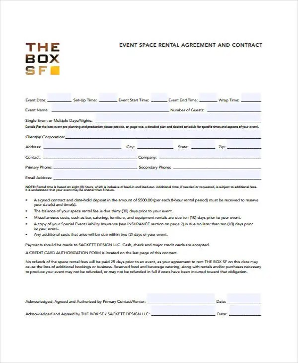 11+ Event Contract Templates - Free Sample, Example Format Download