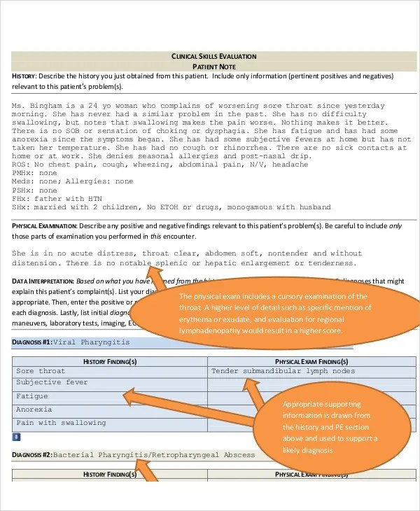 Patient Note Templates - 7+ Free Samples, Examples Format Download - patient note
