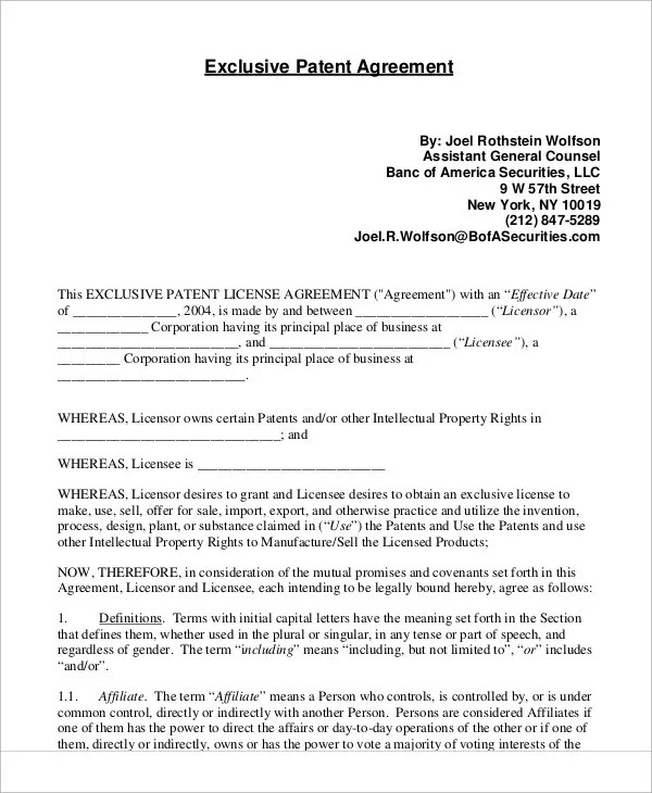 Sample License Agreement Template Software License Agreement