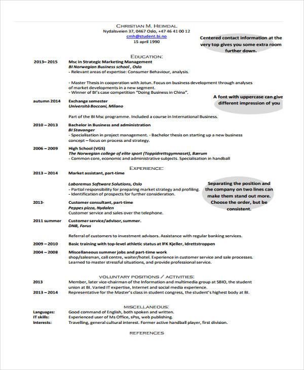 15+ Social Media Resumes Templates - PDF, DOC Free  Premium Templates