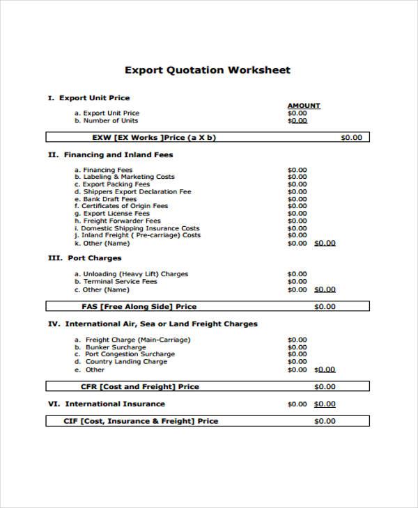 Price Quotation Format 55 – Price Quotation Format
