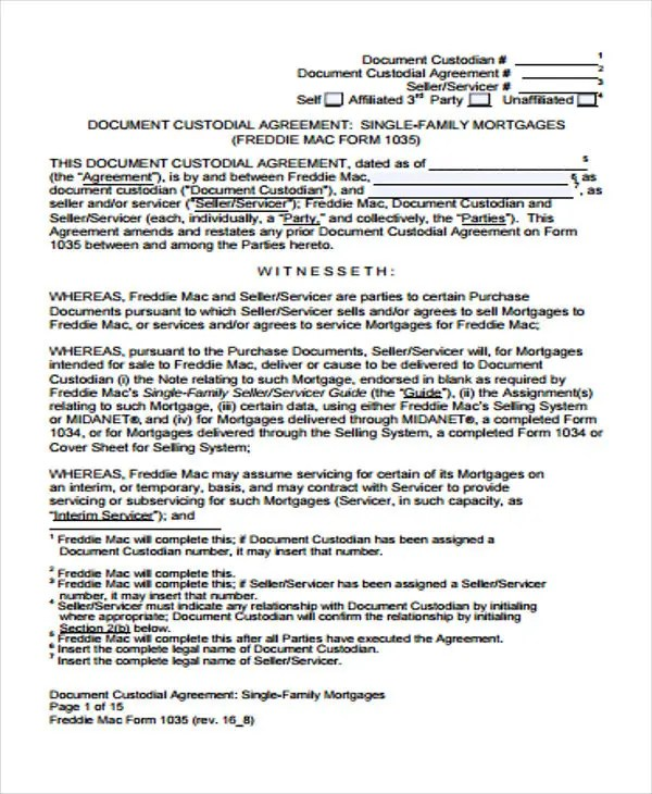37+ Basic Agreement Templates Free \ Premium Templates - mortgage contract template