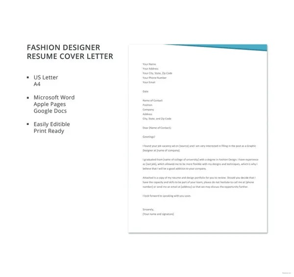 16+ Designer Cover Letters - Free Sample, Example Format Download
