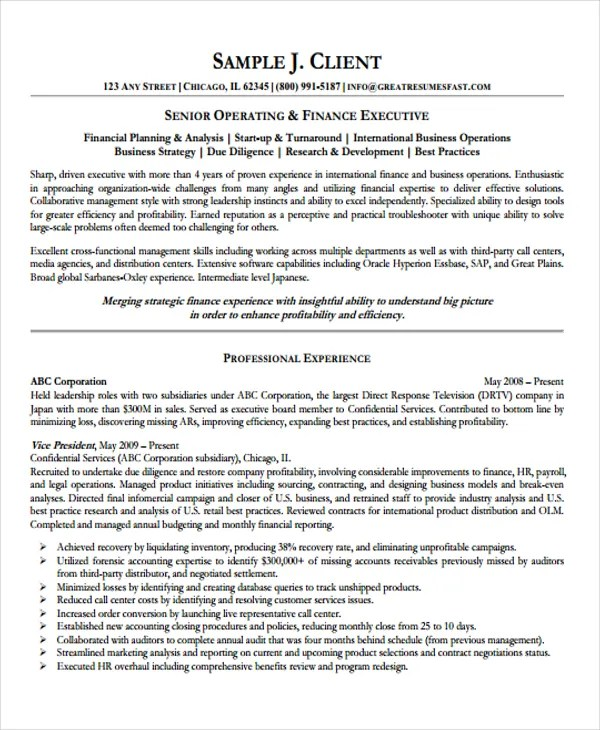 10+ Director of Operations Resume Templates - PDF, DOC Free - director of operations resume sample