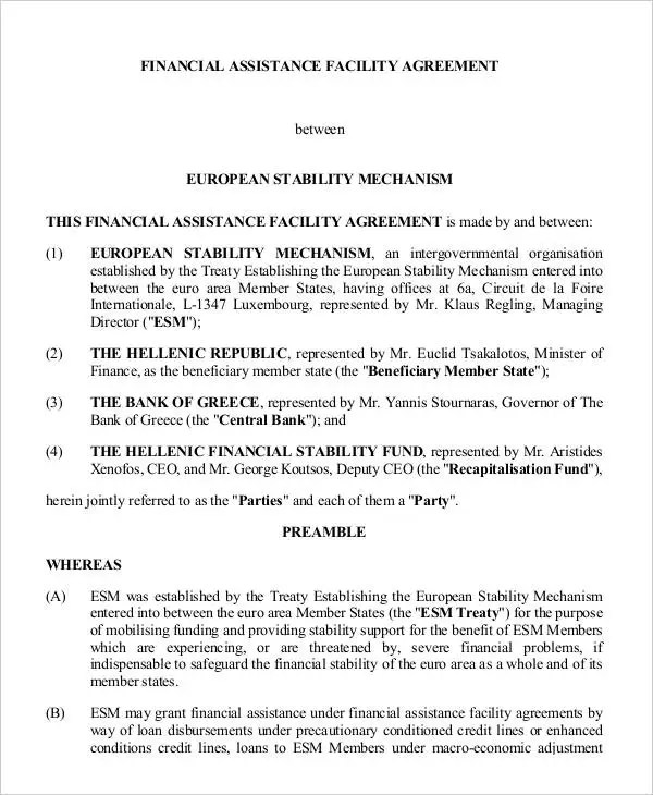 9+ Facility Agreement Templates - Free Sample, Example Format - credit agreement