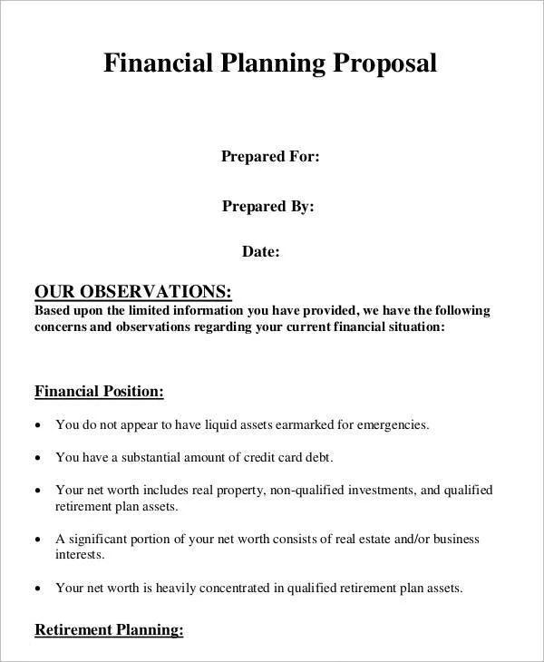12 Plan Proposal Templates - Free Sample, Example Format Download