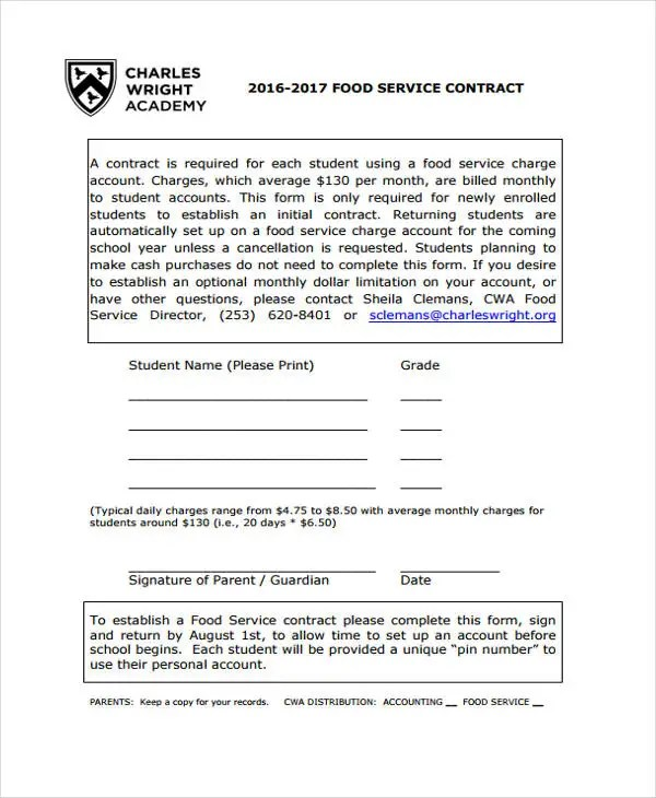 11+ Service Contract Templates - Free Sample, Example Format - personal service contract