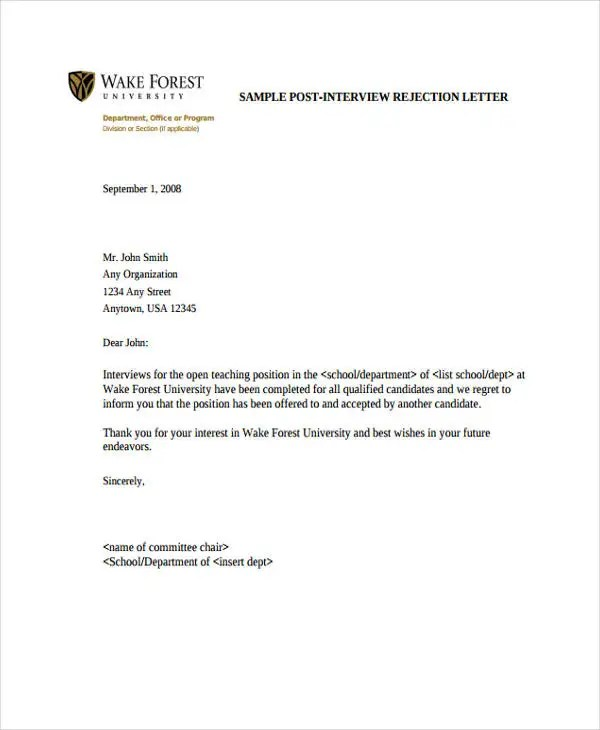 Formal Interview Letter Formal Thank You Letters Interview-Thank - post interview thank you letters
