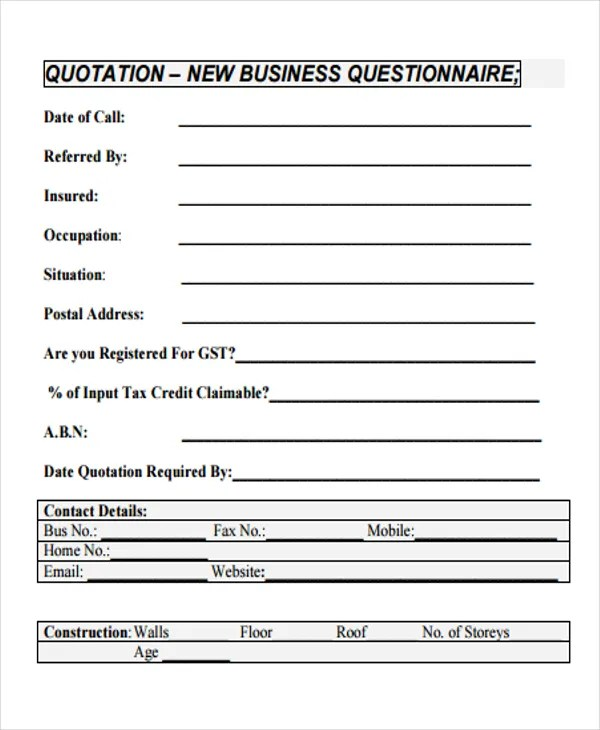 Business Quotations - 11+ Free Sample, Example Format Download - business quotation sample