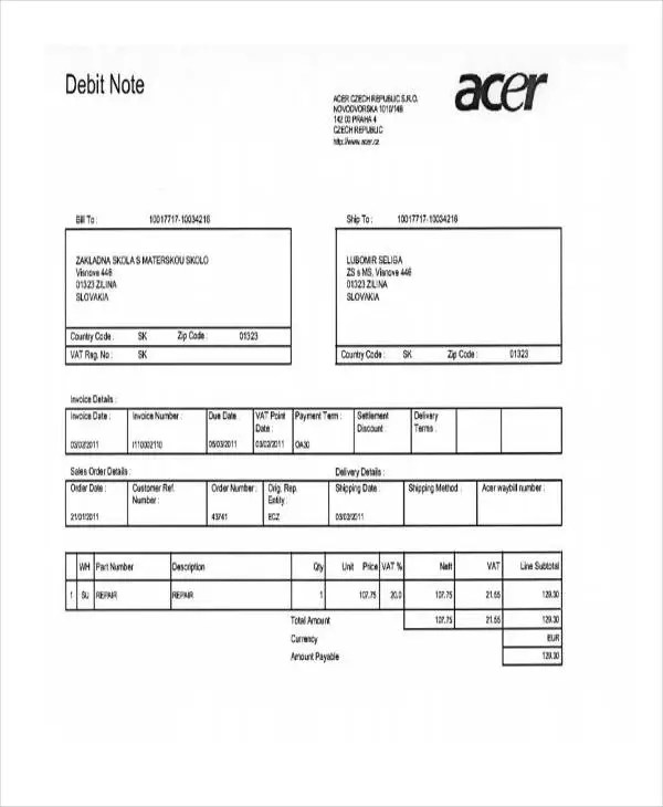 4+ Debit Note Templates - Free Samples, Examples Format Download