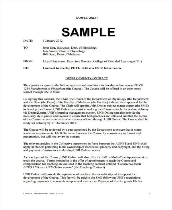 Development Contract Templates - 8+ Free PDF, Format Download - development contract templates