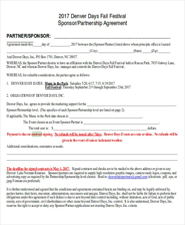 9+ Partnership Contract Templates - Word, PDF Free  Premium Templates