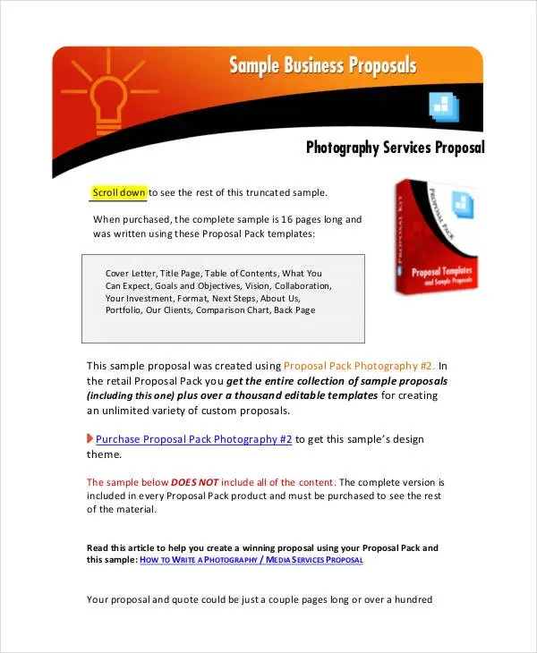 free business proposal – Service Proposal Template Word