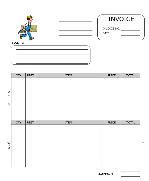 8+ Carpenter Invoice Templates - Free Sample, Example Format