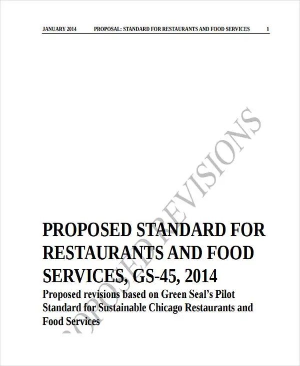 4+ Restaurant Business Proposal Templates - Free Samples, Examples