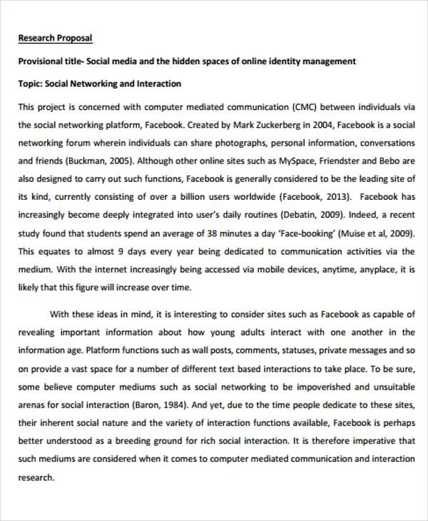 10 Social Media Proposal Templates -Free Sample, Example Format - free online proposal template