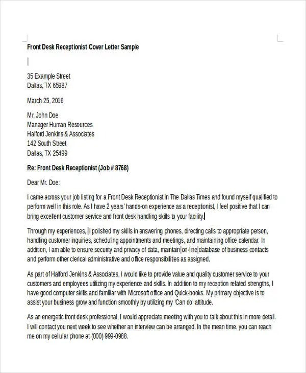 Customer Service Cover Letters -10+ Free Word, PDF Format Download - sample of a cover letter for a jobcover letter for customer service rep