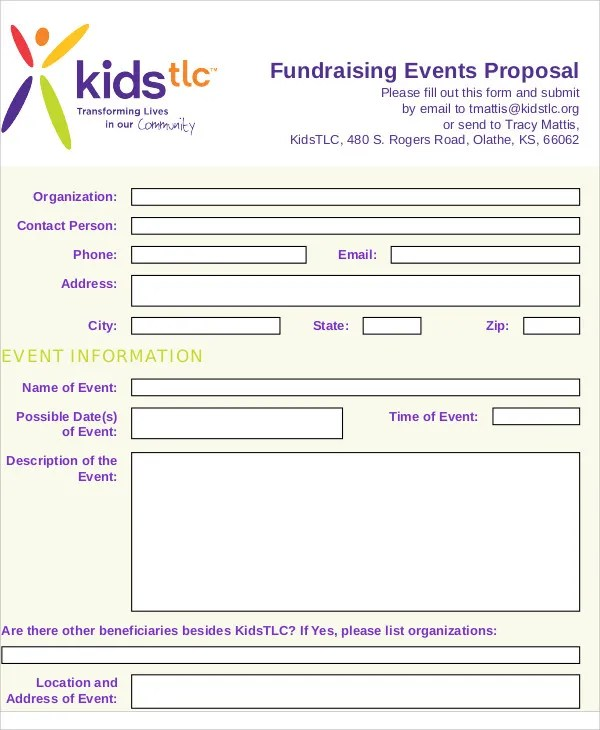 8 Fundraising Event Proposal Templates -Free Sample, Example - fundraising proposal template