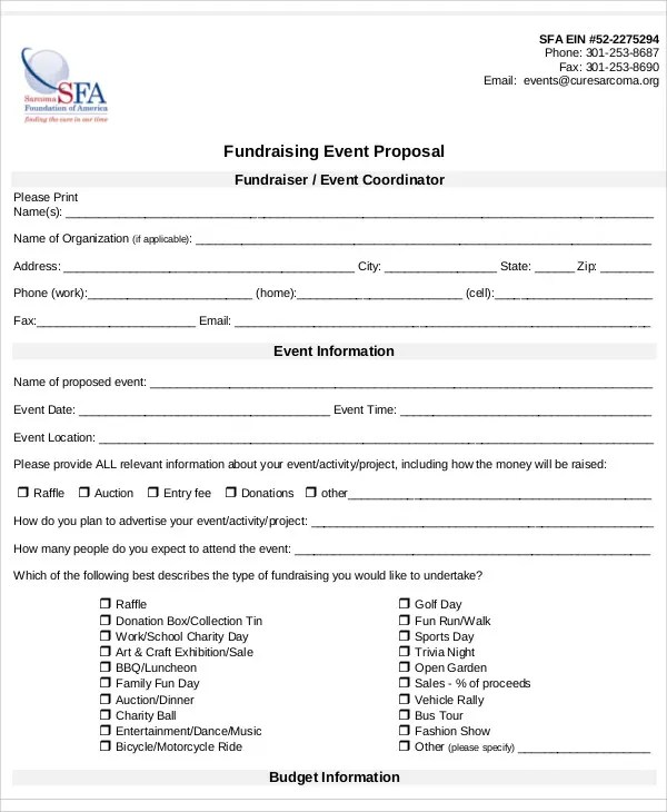 8+ Fundraising Event Proposal Templates - Word, PDF, Pages Free