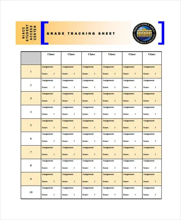 9+ Grade Sheet Templates - Free Sample, Example Format Download - grade sheet template