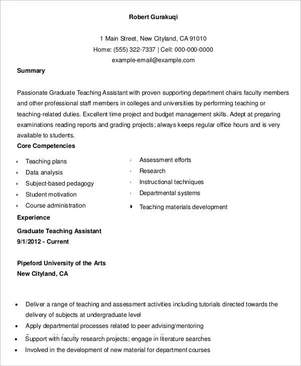 Teacher Resumes - 27+ Free Word, PDF Documents Download Free