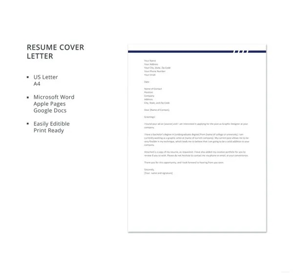 10+ Graphic Designer Cover Letters - Free Sample, Example Format