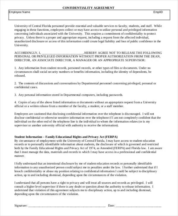 HR Agreement Templates - 6+ Free Word, PDF Format Download Free