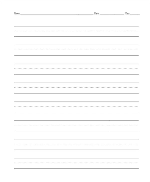 16+ Free Paper Templates Free  Premium Templates - elementary lined paper template