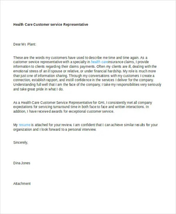 10+ Customer Service Cover Letters Examples Free  Premium Templates