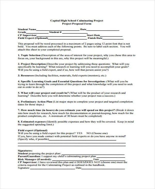 school project proposal template - Trisamoorddiner - Project Proposal Template Sample