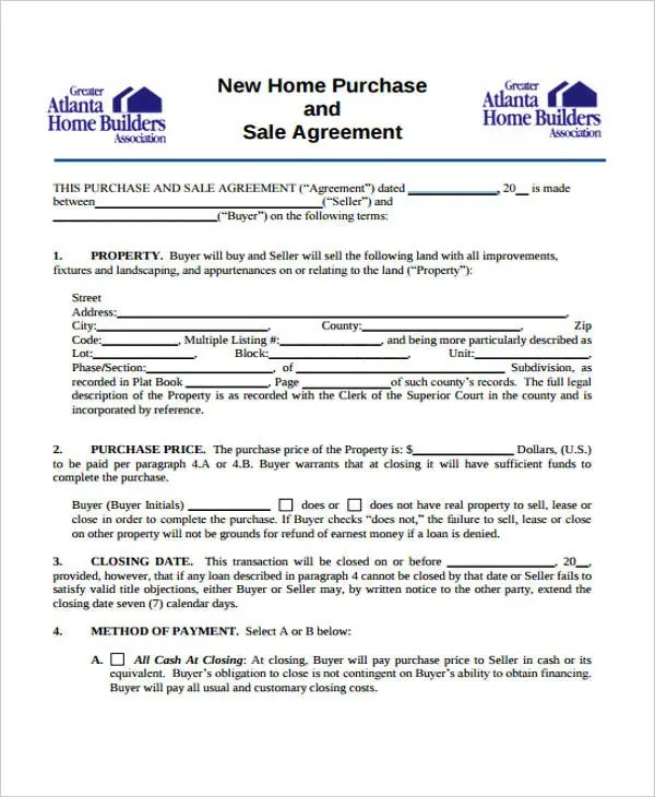 39+ Agreement Templates in PDF Free  Premium Templates - home purchase agreement