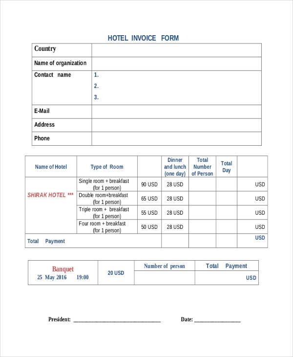 Hotel Invoices 5+ Bill Hotel Format In Word Nurse Resumed - hotel invoice