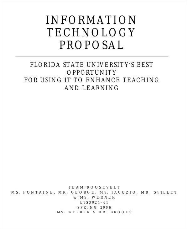 IT Business Proposal Templates - 5+ Free Word, PDF Format Download