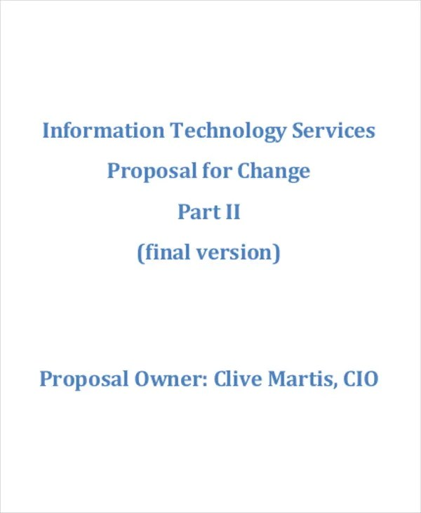 IT Business Proposal Templates - 8+ Free Word, PDF Format Download