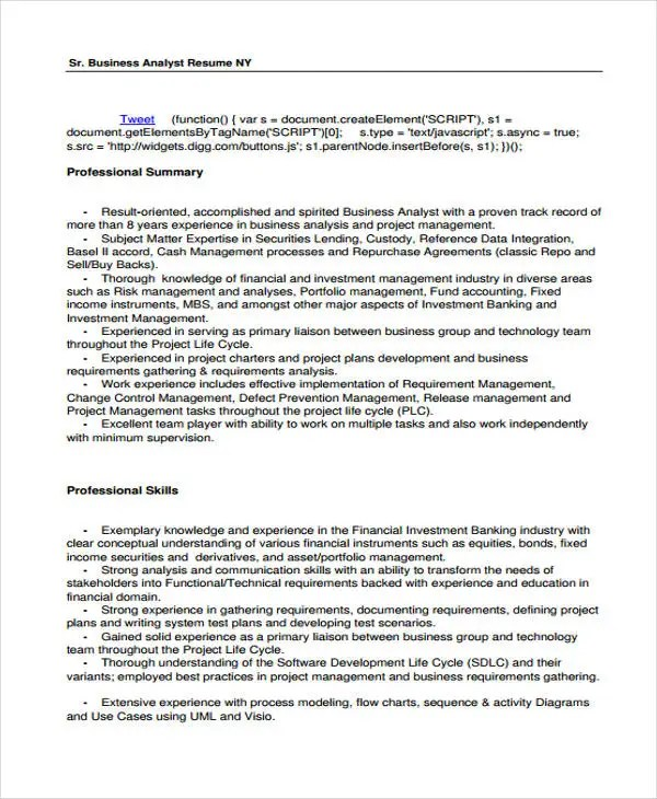 10+ Printable Information Technology Resume Templates - PDF, DOC - information technology resume template