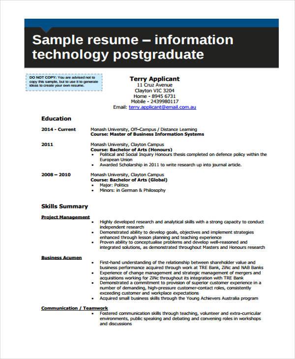 resume health information technology