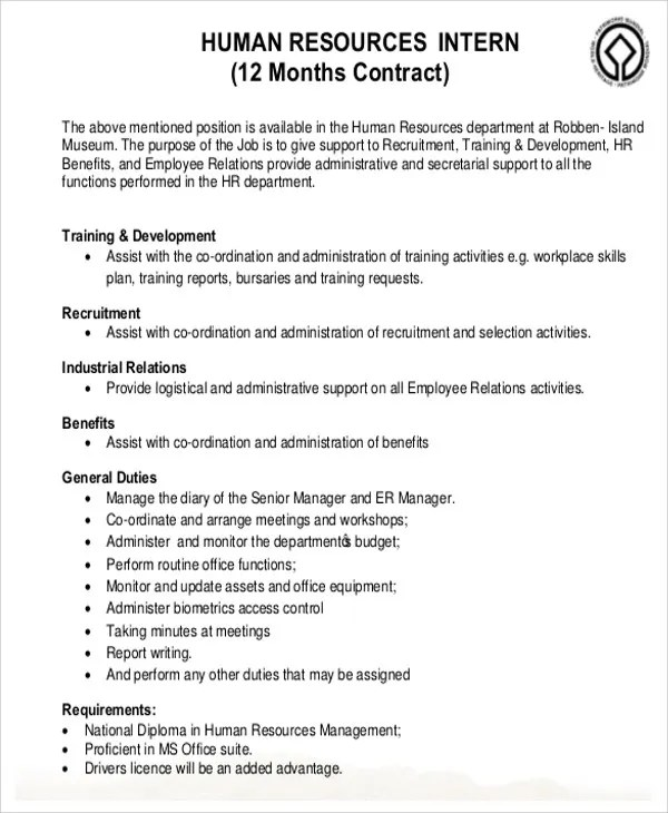 7+ HR Contract Templates - Sample Word, Google Docs Example Format