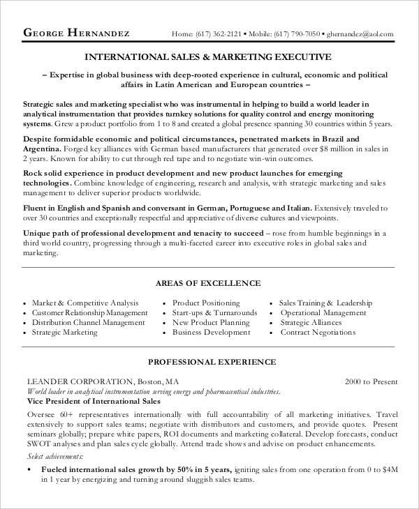 28+ Marketing Resume Templates - PDF, DOC Free  Premium Templates