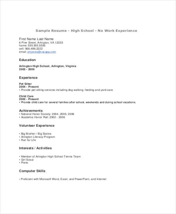 9+ Summer Job Resume Templates - PDF, DOC Free  Premium Templates - what does a job resume look like