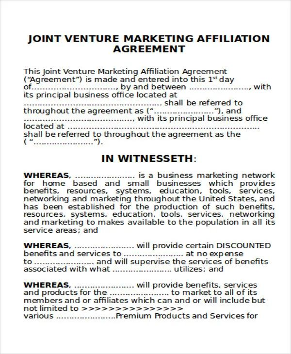joint marketing agreement